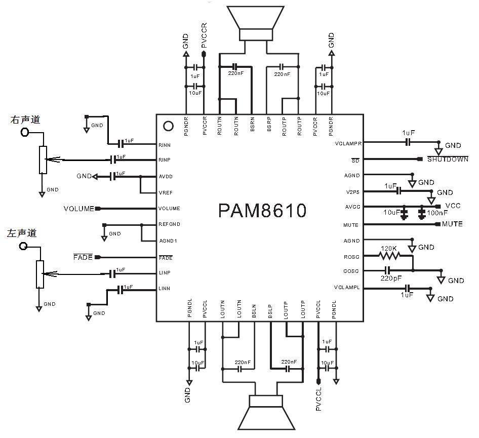 负责经混响处理后的话筒信号与伴音信号混合是另外的电路,参见http